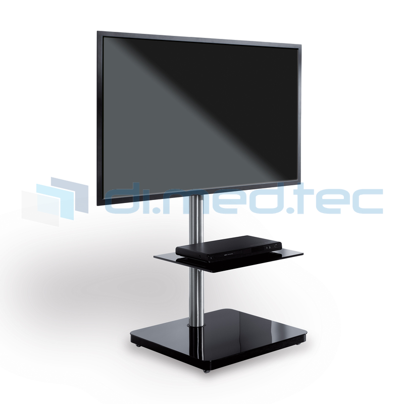 tv standfu h henverstellbar und drehbar schwarz. Black Bedroom Furniture Sets. Home Design Ideas